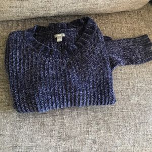 Aerie navy blue chenille sweater